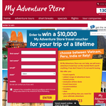 Win a $10,000 'My Adventure Store' travel voucher!