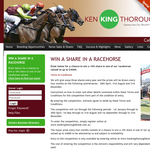 Win a 10% share in a 'Ken King Thoroughbreds' race horse, valued at up to $4,000!