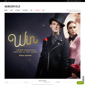 Win a $1000 Gift Voucher from Dangerfield