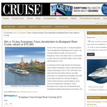 Win a 15-day Evergreen Tours Amsterdam-to-Budapest river cruise!