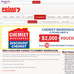 Win a $2,000 Chemist Warehouse voucher or 1 of 10 $100 vouchers!