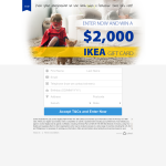 Win a $2,000 IKEA Gift Card