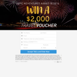 Win a $2,000 Travel Voucher