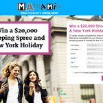 Win a $20,000 shopping spree & New York holiday!