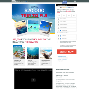 Win a $20,000 Trip to Fiji