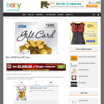 Win a $200 Visa Cash Card