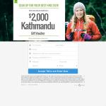 Win a $2000 Kathmandu Gift Voucher