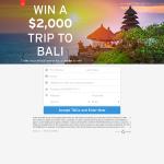 Win a $2000 Trip to Bali