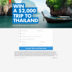 Win a $2000 Trip to Thailand