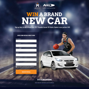 Win a 2017 Hyundai Accent SR Hatch! (Prize MUST Be Collected From Dealership In Melbourne)