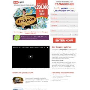 Win a $250,000 cash prize pack!