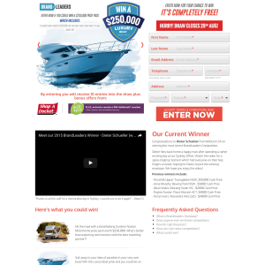 Win a $250,000 luxury boat