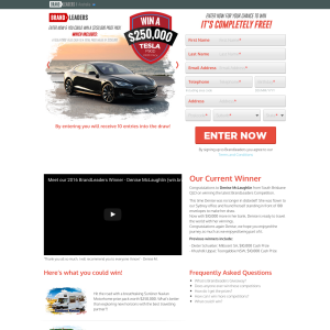Win a $250,000 Tesla P90D Prize Pack