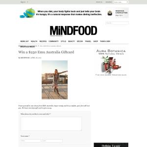 Win a $250 'EMU Australia' gift card!