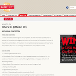 Win a $250 'Market City' gift voucher!