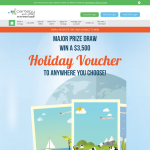 Win a $3,500 holiday voucher!