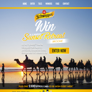 Win a 3-night sunset retreat in Broome + a $500 eftpos gift card to be won every week! (Purchase Required)