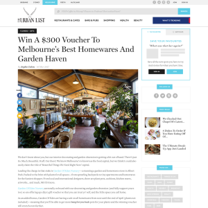 Win a $300 voucher to Melbourne's best homewares & garden haven! (VIC Residents ONLY)