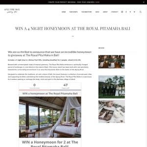 Win a 4 Night Honeymoon at the Royal Pitamaha Bali
