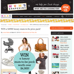 Win a $4900 luxury mum-to-be prize pack!