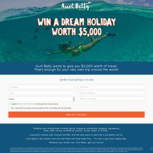 Win a $5,000 'Aunt Betty' travel voucher!