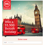 Win a $5,500 British Holiday