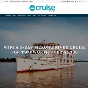 Win a 5-day Mekong River Cruise for 2 worth over $3,300!