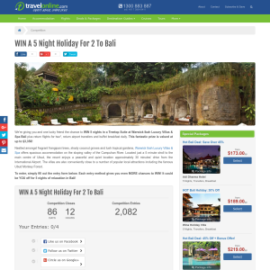 Win a 5-night holiday for 2 to Bali!