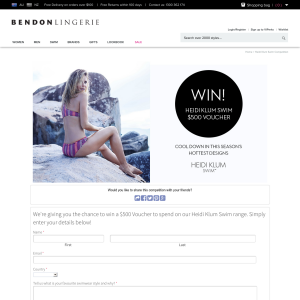 Win a $500 'Heidi Klum Swim' voucher!