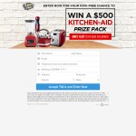 Win a $500 Kitchen-Aid Prize Pack