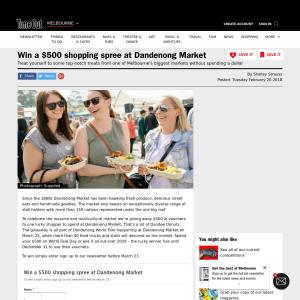 Win a $500 shopping spree at Dandenong Market