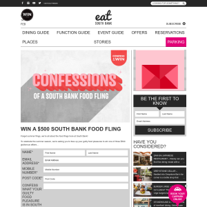 Win a $500 Southbank food fling