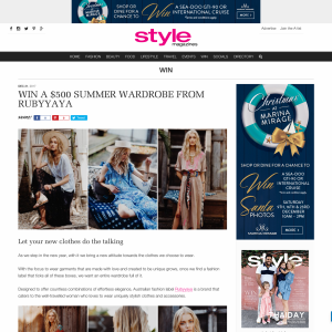 Win a $500 Summer Wardrobe from Rubyyaya