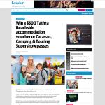 Win a $500 Tathra Beachside accommodation voucher or Caravan