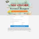 Win a $500 Voucher from Victoria's Basement
