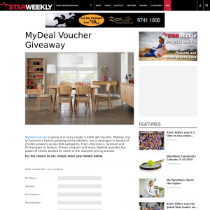 Win a $500 voucher to spend at MyDeal.com.au!