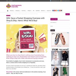 Win a $500 Voucher with Shop & Ship