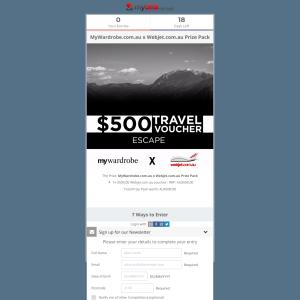 Win a $500 Webjet Voucher