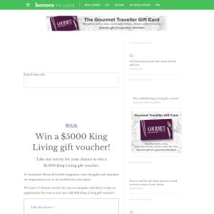Win A $5000 King Living Gift Voucher