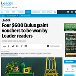 Win a $600 Dulux paint voucher