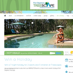 Win a 7 night holiday at Treescapes, Port Stephens!