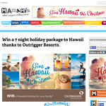 Win a 7 night holiday package to Hawaii thanks to Outrigger Resorts!