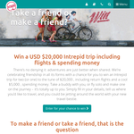 Win a $20,000 Intrepid trip including flights & spending money