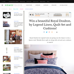 Win a beautiful Royal Doulton, by Legend Linen, Quilt Set & Cushions!