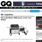 Win a BeefEater BBQ pack, worth over $1,000!