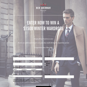 Win a 'Ben Sherman' $1,500 winter wardrobe!