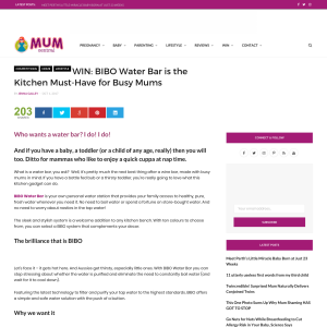 Win a Bibo Water Bar