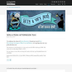 Win a Black Cats & Butlers posh afternoon tea