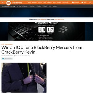 Win a Blackberry Mercury smartphone!