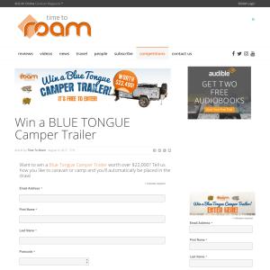 Win a Blue Tongue Camper Trailer